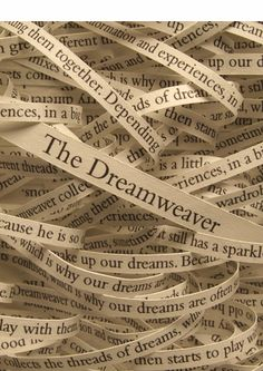 the threads of our dreams weave us nightly