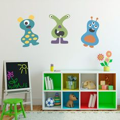 Monster Wall Decals Set of 3 Vinyl Wall por StephenEdwardGraphic