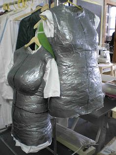 make an exact replica of your body for fitting sewing projects.. with ducktape!
