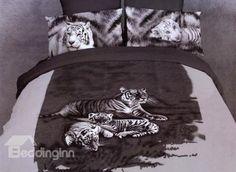 Lazy Tigers Sleeping on the Grass Pint Duvet Cover Sets on sale, Buy Retail Price Animal Print Bedding Sets at Beddinginn.com