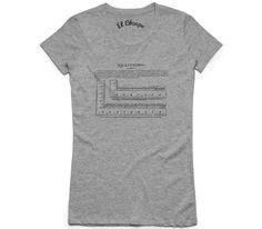El Cheapo Analysis Ruler Womens Grey Marle T-Shirt