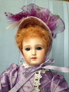 "Gorgeous Repro French Fashion Doll, 11.5"" La Pouponniere, 2007, bisque, stand 
