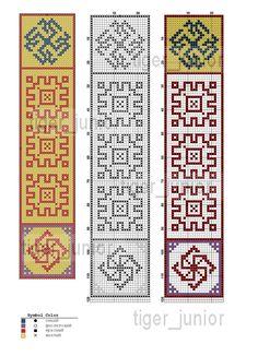 закладка для книг с обережными знаками - молвинцем, сварожичем и репейником…