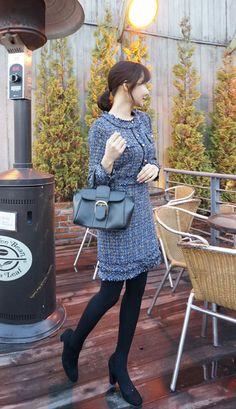 Tweed Office Dress [Woo Style] 11Street