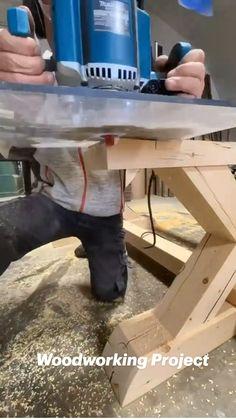Woodworking School, Beginner Woodworking Projects, Woodworking Skills, Woodworking Furniture, Fine Woodworking, Diy Furniture, Farmhouse Table Plans, Wood Worker, Cool Inventions