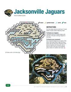 JACKSONVILLE JAGUARS ORNAMENT/MAGNET made pattern