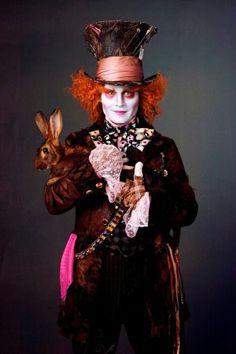 """Johnny Depp - jako Szalony Kapelusznik w filmie"""" Alicja w Krainie Czarów""""(2010) Alice in Wonderland"""
