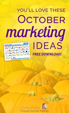 Need October marketing ideas? Click to blog for FREE printable inspiration calendar! Don't miss this opportunity to market your small business or blog. #marketingtips #contentmarketing