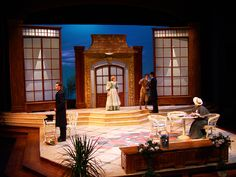 The Importance of Being Earnest Stage Set Design, Set Design Theatre, Mary Poppins, Theatrical Scenery, Fiddler On The Roof, Scenic Design, Dance Studio, Lights Background, Art Deco Design