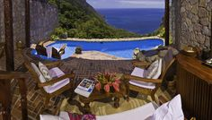 Ladera Resort: St. Lucia: there are only 3 walls on your room - leaving you exposed to the ocean and the view oooo