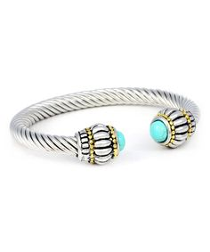 Look at this Turquoise & Two-Tone Cable Cuff on #zulily today!
