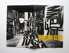 William Klein catalog for Stedelijk Museum, 1987 // des. Wim Crouwel