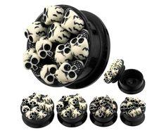 3D Skulls Extreme Size Acrylic Stash Screw Plugs Ear Plug Tunnel 9 16 13 16 | eBay