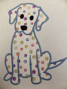 Labrador Puppy Dog ~ Embroidered Applique Quilt Block/Panel in Crafts, Sewing, Quilting Applique Templates, Applique Patterns, Applique Designs, Quilting Designs, Owl Templates, Applique Ideas, Felt Patterns, Patchwork Quilting, Applique Quilts
