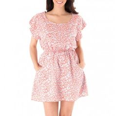 Elastic Waist Dress with Pockets