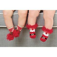 Calcetines de bebé navideños