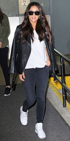 27 Celeb-Inspired Ways to Wear White Sneakers | People - Shay Mitchell