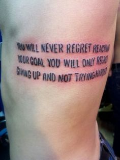 Thank you tumblr for the words for my tattoo