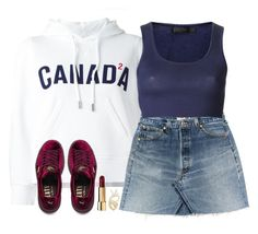 """""""Canada"""" by oh-aurora ❤ liked on Polyvore featuring Dsquared2, Calvin Klein Collection, Puma, Cristiano Pagnini and Aurélie Bidermann"""
