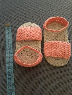 Zapatillas verano bebé #katia #drops #algodón #crochet #ganchillo