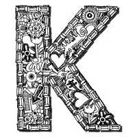 letter k alphabet coloring