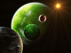 cool planets green red sun Check more at http://www.finewallpapers.eu/pin/24730/