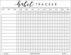 Habit Tracker Bullet Journal Printable habit tracker bullet journal printable the small print. Instead of attempting to write a full narrative of the event you might be scrapbooking, use b. Bullet Journal Tracking, Bullet Journal Inspo, Bullet Journals, Planner Template, Printable Planner, Monthly Planner, Goals Printable, Printable Calendars, Free Printables