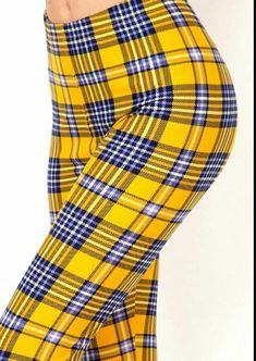 Free Ship Women Chic Classic PLAID Red /& Black Leggings OS Buttery-Soft One Size