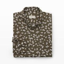 Slim-Fit Dandy Floral Shirt - This woodblock-inspired print lends vintage sophistication to our tailored slim-fit shirt.