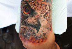 Tattoo-Foto: Eine Eule