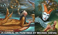 25 Absurdity Illusion Paintings by Michael Cheval - Game of Imagination. Follow us www.pinterest.com/webneel