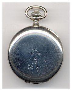 "Scarce Swedish Army ""Minerva"" Chronograph Pocket Watch. 1930's (Case Back)"