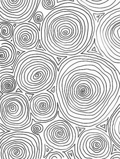 Lexi - squiggle modern black and white hand drawn pattern design . Circle Pattern, Pattern Art, Pattern Design, Textures Patterns, Fabric Patterns, Print Patterns, Design Textile, Zentangle Patterns, Aboriginal Art