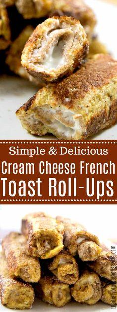 Healthy Cream Cheese, Cream Cheese Breakfast, Cream Cheese Roll Up, Breakfast Toast, Cream Cheeses, Breakfast Dessert, Breakfast Time, Breakfast Casserole, French Toast Roll Ups
