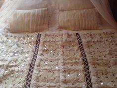 Moroccan Vintage Handira Wedding Blanket