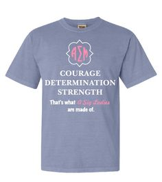 Alpha Sigma Mu Courage Determination Strength Chapter Shirt | | Greek Central | Greek Custom T-Shirts | #GreekCentral www.greekcentral.com  |  Custom T-Shirt | Custom Designs | Greek Life Shirts | Sorority | Comfort Colors