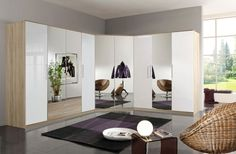 In a world full of different #closet designs, you can innovate the space with a corner #wardrobe for storing things. It has 2 full size mirrors to adorn the beauty of your #room.