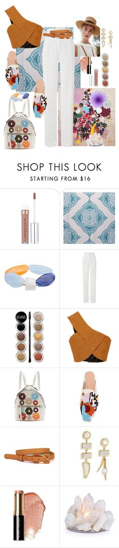 """Untitled #408"" by ohnoflo on Polyvore featuring John Lewis, Gaia, Amanda Wakeley, Giorgio Armani, Rosetta Getty, Fendi, Rachel Comey, Lizzie Fortunato and Bobbi Brown Cosmetics"