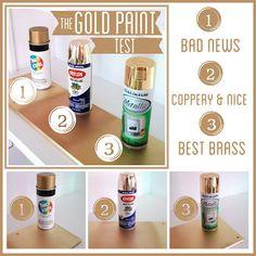 Best GOLD spray paints.  Bright Green Door via houseofhepworths.com