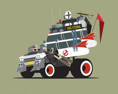 Famous TV and Movie Automobiles Illustrated as Apocalyptic ...
