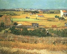 off Hand made oil painting reproduction of Harvest At La Crau With Montmajour In The Background, one of the most famous paintings by Vincent Van Gogh. In the year of the Post-Impressionist painter Vincent Van Gogh painted. Art Van, Van Gogh Art, Van Gogh Museum, Van Gogh Pinturas, Vincent Willem Van Gogh, Van Gogh Paintings, Artwork Paintings, Paintings Online, Farm Paintings