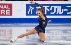 Alena Kanysheva of Russia competes in the Short Program of the Junior Women's competition at the ISU Junior and Senior Grand Prix of Figure Skating Final, December 2018 in Vancouver, British. Figure Skating Costumes, Figure Skating Dresses, Russian Figure Skater, Sports Figures, Girls Wear, Ice Skating, Grand Prix, Competition, Costumes