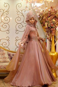 Modamiz.com | Tesettür Giyim | Çanta | Eşarp | Ayakkabı. Gamze Polat Ahra Abiye Somon