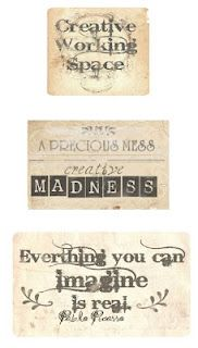 Free printable vintage labels ♥
