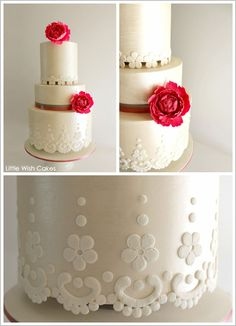 Vintage Lace by Little Wish Cakes     TheCakeBlog.com