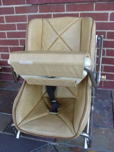 Vintage Metal Folding High Chair With Vinyl Seat Amp Plastic