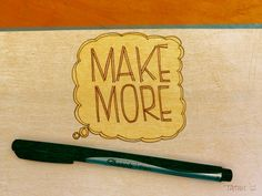 make & make more by keith tatum Out Of My Mind, Bamboo Cutting Board, Favorite Things, Mindfulness, How To Make, Consciousness