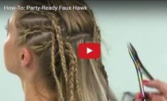 Video HOW-TO >>> #behindthechair #fauxhawk #upstyle #partyhair #hairextensions