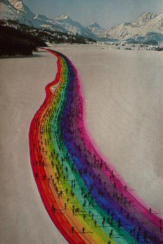 Camino Arcoiris!Que viva el color!!@anatonia @elcolorcomunica @patygallardo