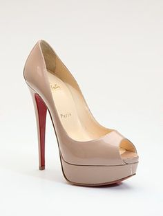"Christian Louboutin Lady Peep Patent Leather Platform Pumps #SaksLLTrip ""Pump that goes with everything!!"""